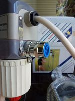 """Электрический водонагреватель марки """"Халлей"""" Турция. Ванная."""