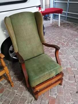 Old vintage wooden rocking chair