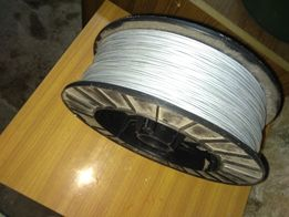 Drut ocynkowany do ogrodzeń elektrycznych 500mb fi 2,0, 4 SZPULE