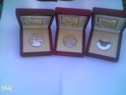 Numizmaty Srebrne - Ochrona Zwierząt 925Ag 28,28 gr i inne 13 sztuk