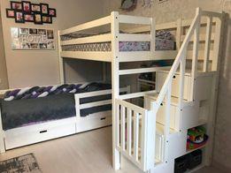 кровать двухъярусная Николь с лестницей комодом