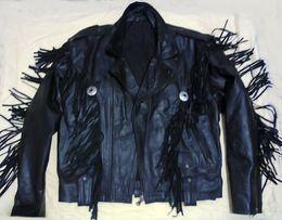 Кожаная байкерская куртка в стиле Western