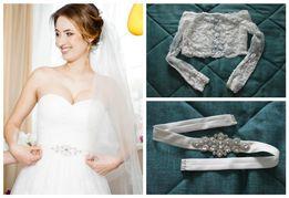 """Свадебное платье, болеро, пояс,кольцо под платье.TM """"Lite by Dominiss"""""""