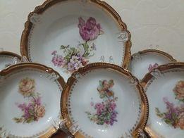 Антикварный набор тарелок, фарфоровый. Германия 1900-1920гг