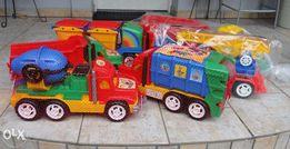 Straż Pożarna Wywrotka Śmieciarka Betoniarka / solidna zabawka