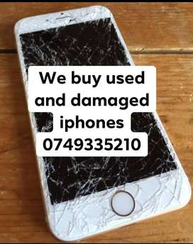 We buy used and cracked Iphones