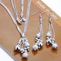 Piękny zestaw biżuterii Naszyjnik + Kolczyki