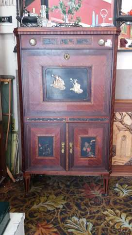 Victorian Fall Front Secretaire with ivory inlay