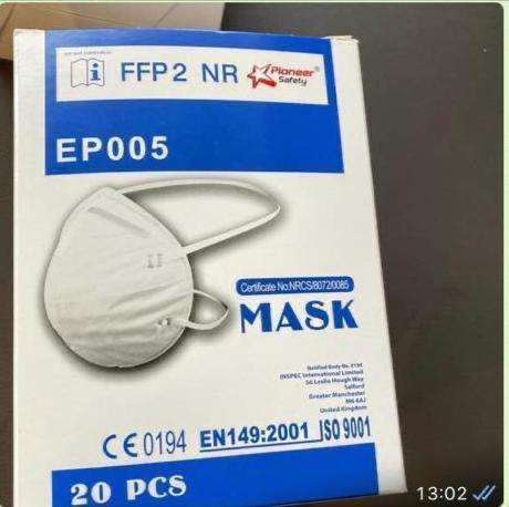 Pioneer FFP2 dust mask available now 0