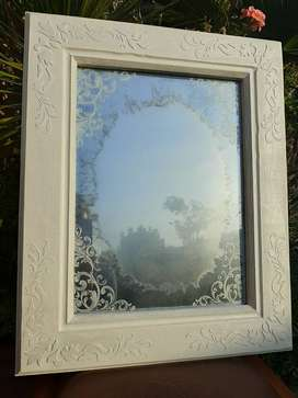 Vintage Antiqued Mirror - Hand Crafted