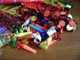 Игрушки, конфетти, декор