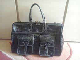 Мужской кожанный саквояж DESISAN 708 ( Дорожная сумка)