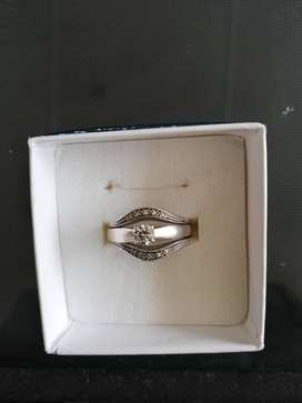 WHITE GOLD ENGAGEMENT / WEDDING RING (COMBINED)