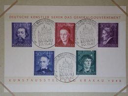 znaczki pocztowe GENERALNA GUBERNIA 1940-44 stemple okolicznościowe