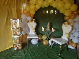 Party/Baby shower Deco Backdrops for hire