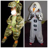 Прокат: костюм снеговика Олафа, дракона 5-6 лет, динозавра