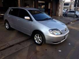 Toyota Runx 1.6i hatchback silver in color