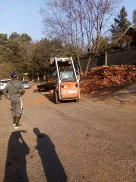 Tree stump removal  and bobcat hire
