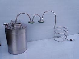 Дистиллятор 20л на 2 стеклянных сухопарника,Дистилятор