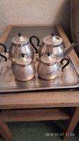 Сервиз чайно-кофейный металл. СССР