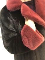 Цветная Норковая Шуба с крашеной норкой