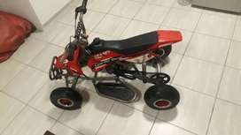 49cc 2 stroke quad bike with FMF performance  pipe