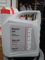 Масло моторное оригинальное Nissan Motor Oil 5w-40 (5 литров)