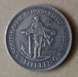 Nice 1933 S.A silver shilling