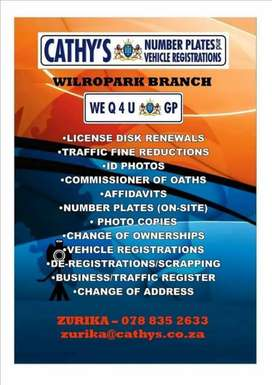 Cathy's Vehicle Registration Wilopark