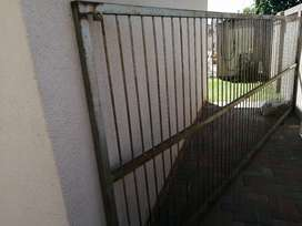 Solid galvanized Steel gate