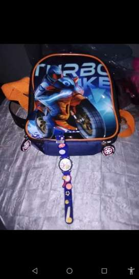 Boys lunch box and watch combo