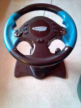 Steering Wheel & Gear Lever for PS2. Adjustable height and angle.