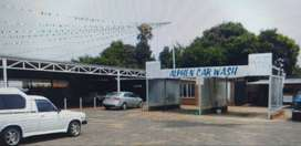 Car sales with car wash and restaurant