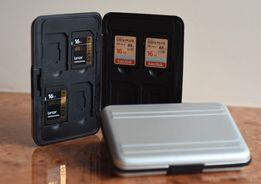 Кардхолдер / футляр / кейс / коробочка для карт памяти SD и micro-SD