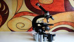 mikroskop laboratoryjny carl zeiss jena,oryginał