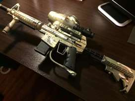 BT OMEGA PAINTBALL GUN WITH LOTS OF EXTRAS