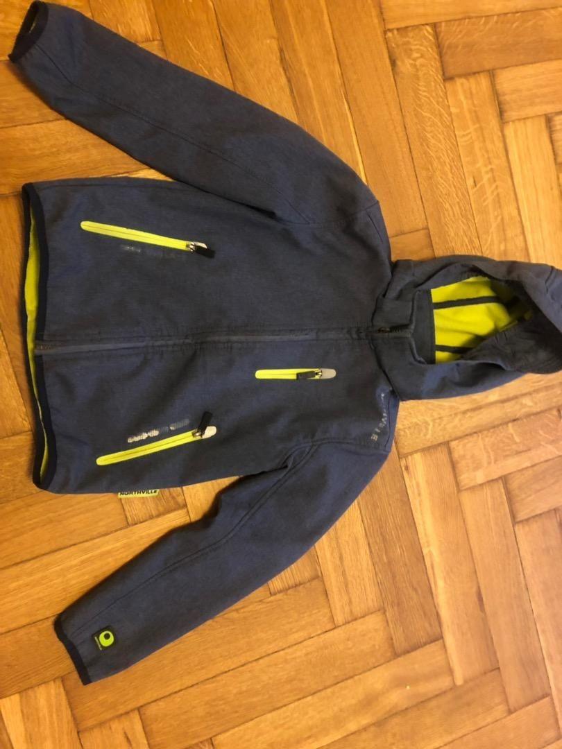 Softshellova bunda, vel. 134, modrá 0