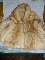 натуральный полушубок из белого волка