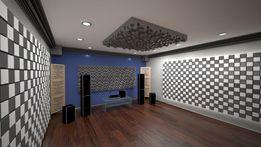 Акустическая панель Tetras Acoustic из акустического поролона и Мдф