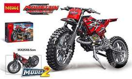 Mountain Motorcycle Building Blocks  Pieces