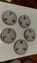 Porcelanowe talerzyki dla dzieci - Lubiana