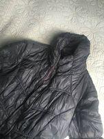 kurtka puchowa, pikowana ZARA 164 cm. grafitowa przejsciowa