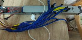 Блок питания серверный HP 2450 Вт (майнинг, блок, psu) + бп atx 250w