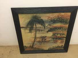 Wall mounted hand craft painting