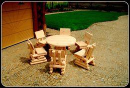 Meble drewniane ogrodowe huśtawka stół krzesło dostawa 100zł kraj