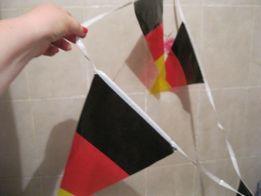 интерьер гирлянда из флажков флаг ГЕРМАНИИ длинная декор клеенка