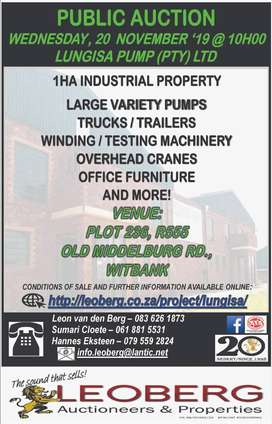 Prime 1ha Industrial Site and Assets on Auction - Wed 20 Nov '19 10h00