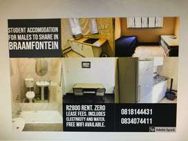 student accommodation available in braamfontein!!! march 2020