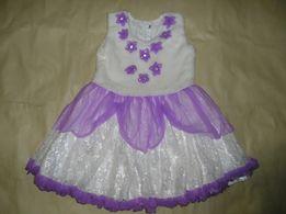 Платье на девочку 2-4 года. Меховая жилетка.