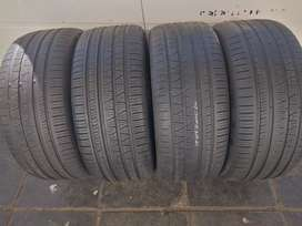 A set of tyres size 295/45/20 pirelli run flat now available